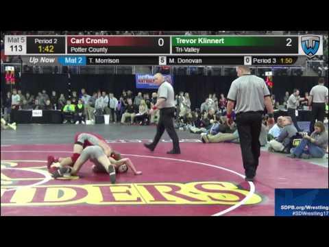 2017 SDHSAA State B Wrestling Tournament - Saturday Session 1 - Mat 5