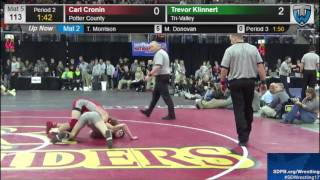 2017 SDHSAA State B Wrestling Tournament - Saturday Session 1 - Mat 5