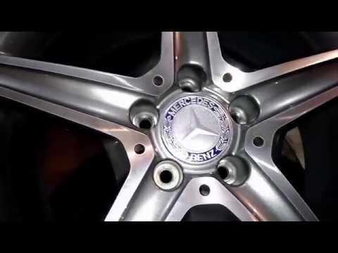 Диски с шинами на Mercedes C Klass 2015 г оригинальные, разноширокие