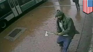 Jihad in America? Man shot dead after attacking police with axe on Jamaica Avenue in Queens