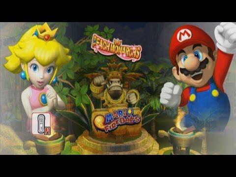 Mario Super Sluggers | Peach vs Mario @ DK Jungle Exhibition