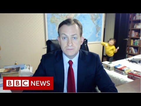 Viral 'BBC Dad' Returns To Discuss Working From Home: 'Just Really, Really Tough'