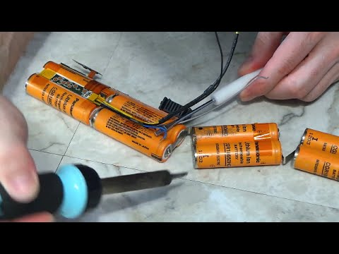 Rebuild a laptop battery pack