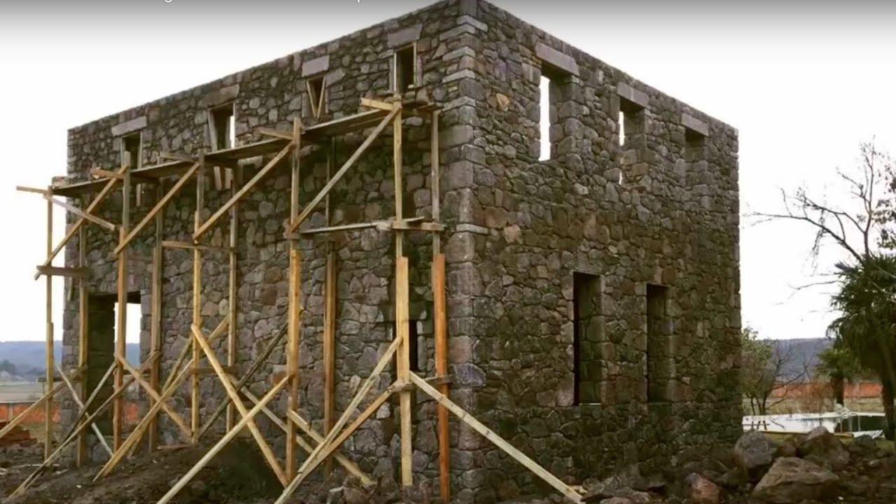 Stone House Building Start to Finish Timelapse