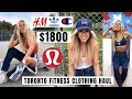 $1800 Lululemon Nike Adidas H&M & More Fitness Clothing Haul