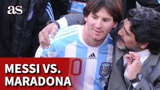 Maradona vs. Messi | Comparativa entre los dos iconos argentinos | Diario AS