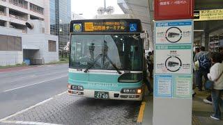 【前面展望】羽田京急バス ターミナル間無料連絡バス 国際線ターミナル-国内線第二ターミナル@日野・ブルーリボンNH3469 thumbnail