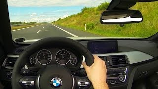 BMW 435i Onboard POV on Country Road Landstrasse Acceleration Kickdown Sound F33 Cabrio convertible