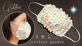 Nice way to make face mask easy with filter pocket not everyone knows