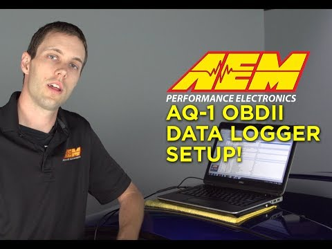 AEM AQ-1 OBDII Data Logger Setup - Wiring, Software and Downloading Logs  into AEMdata