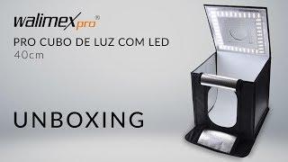 Walimex Pro Cubo de Luz com LED - 40cm - UNBOXING