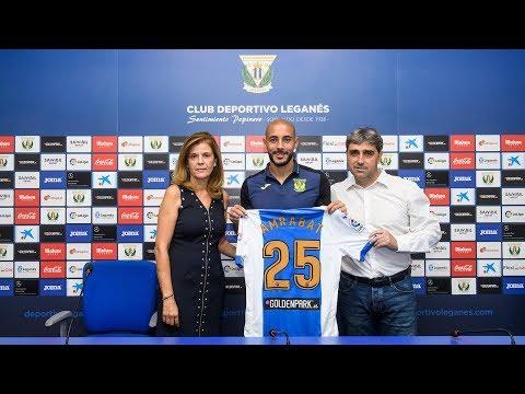 Presentación oficial de Nordin Amrabat con el Club Deportivo Leganés