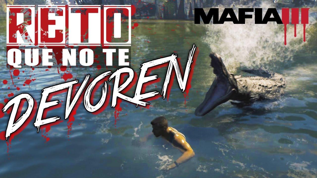 El Reto COCODRILO, Nada Rápido y Que No Te COMAN VIVO!! - Mafia III
