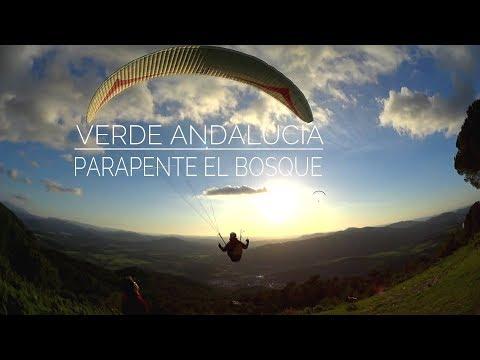 Parapente en El Bosque, verde Andalucía. Paragliding en Andalusia, Spain