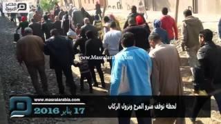 مصر العربية | لحظة توقف مترو المرج ونزول الركاب