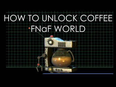 How to Unlock Coffee in FNaF World | Coffee Unlock | Update 2