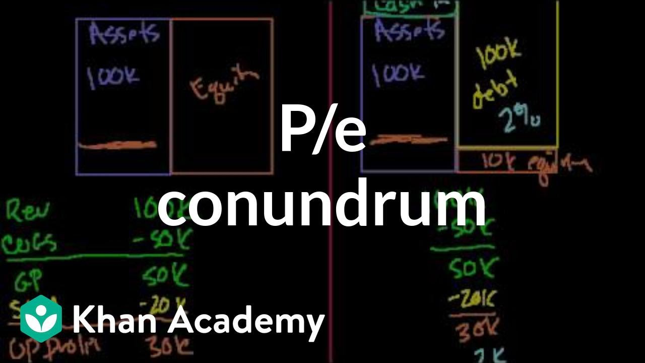 P/E conundrum | Stocks and bonds | Finance & Capital Markets | Khan Academy