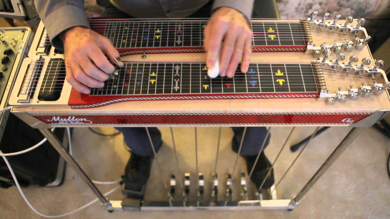 Mullen Pedal Steel Guitar and Hilton Volume Pedal Demo by
