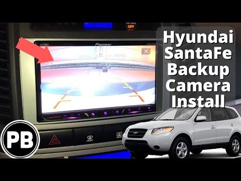 2007 - 2012 Hyundai Santa Fe Backup Camera Install