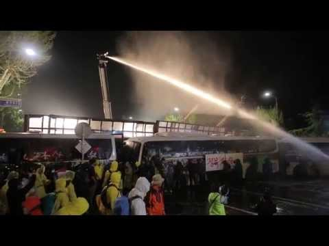 Korean Police and their water cannons