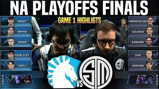 TL vs TSM Game 1 Highlights LCS Playoffs Final - Team Liquid vs Team SoloMid Game 1 Highlights LCS