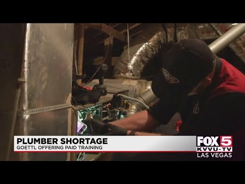 Amid Southern Nevada plumber shortage, company launches free trade school for recruits