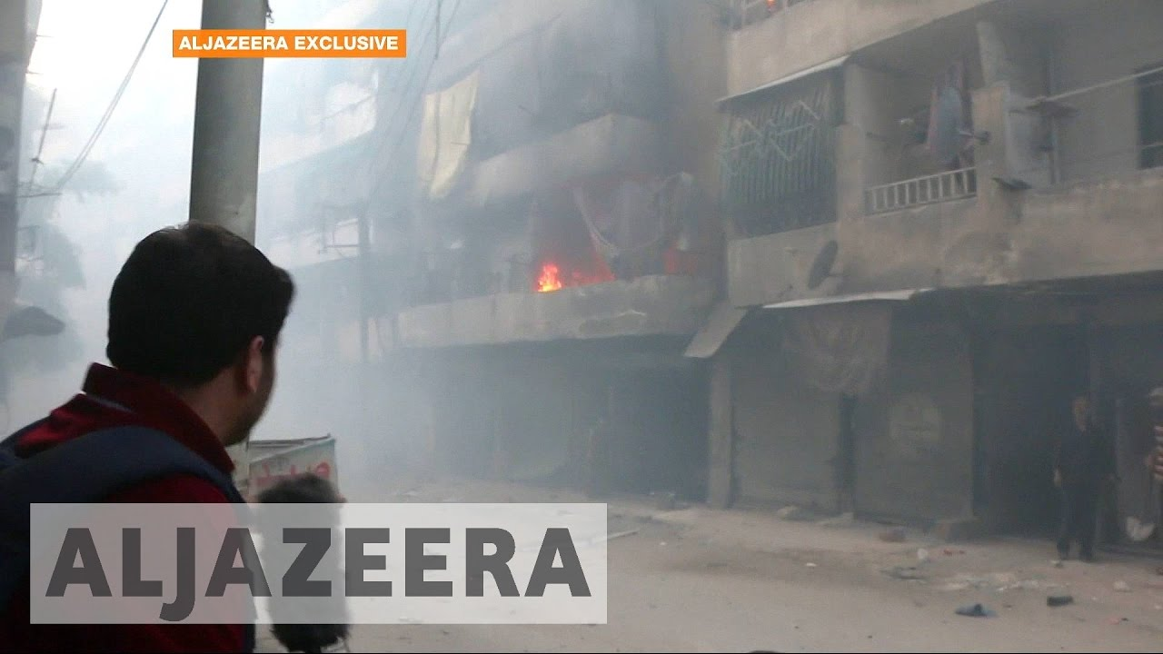 Phosphorus bombs rain down on Syria's Aleppo