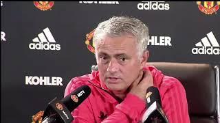 Jose Mourinho Press Conference. Man U Vs Brighton
