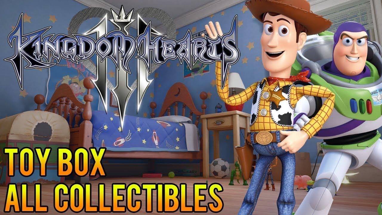 Kingdom Hearts 3 Toy Box 100 All Collectibles Treasures