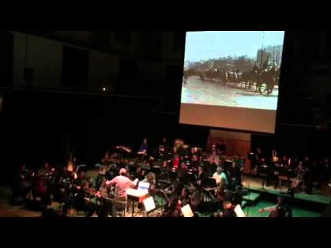 Mise Éire with live score - clip from rehearsal