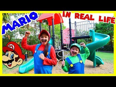 สกายเลอร์   ? บรีแอนน่า กับ มาริโอ้ เกมส์ในชีวิตจริง สนุกมาก มันส์สุดๆ  (((Mario in Real Life)))