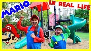 สกายเลอร์ | 🎮 บรีแอนน่า กับ มาริโอ้ เกมส์ในชีวิตจริง สนุกมาก มันส์สุดๆ  (((Mario in Real Life)))