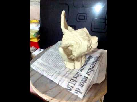 Sphynx cat in clay