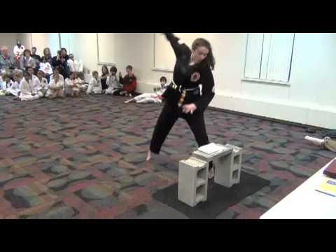 Eva Black Belt Test - Breaking