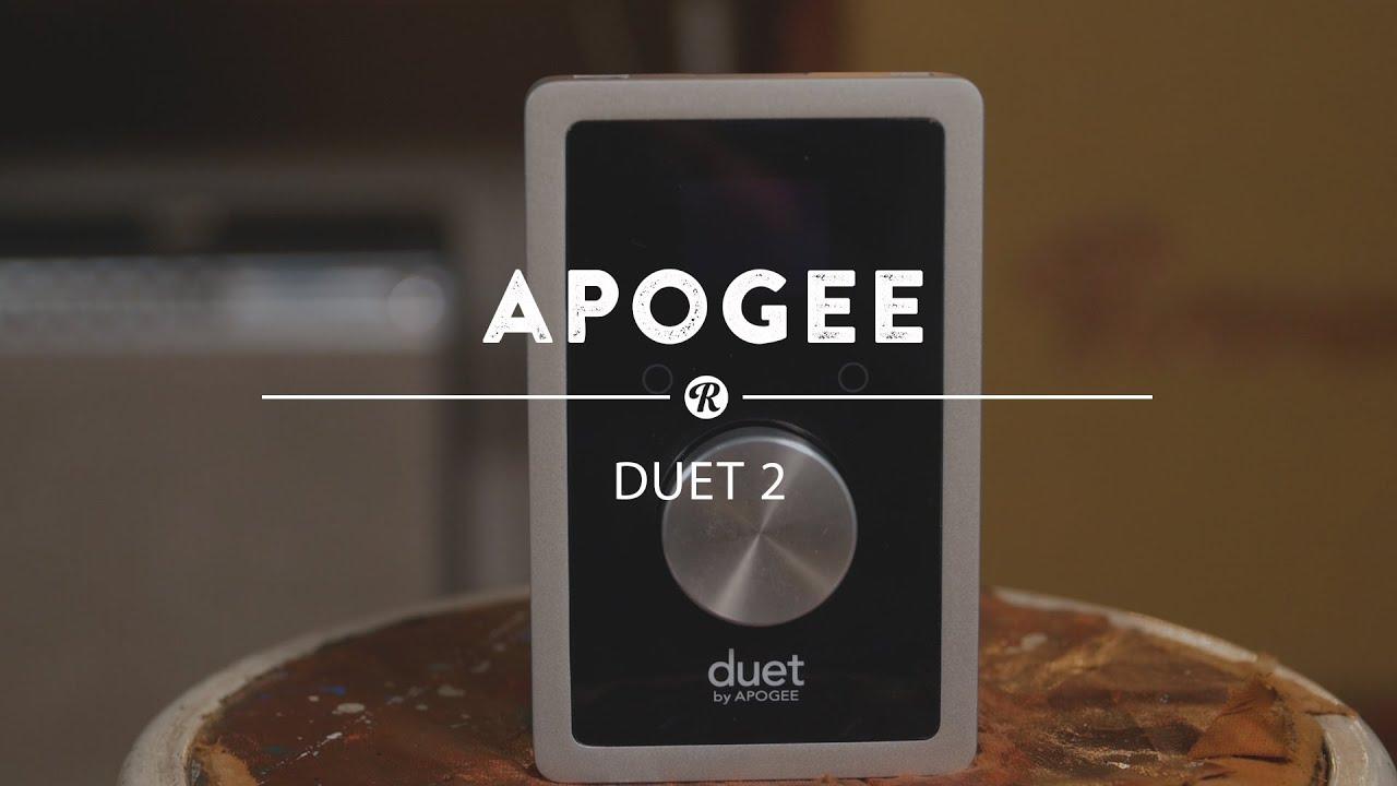 Apogee Duet 2 Audio Interface | Reverb Demo Video