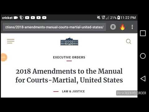 2018-AMENDEMENTS TO MANUAL FOR COURT MARTIAL-EXECUTIVE ORDER