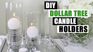 DIY DOLLAR TREE CANDLE HOLDERS DIY Home Decor