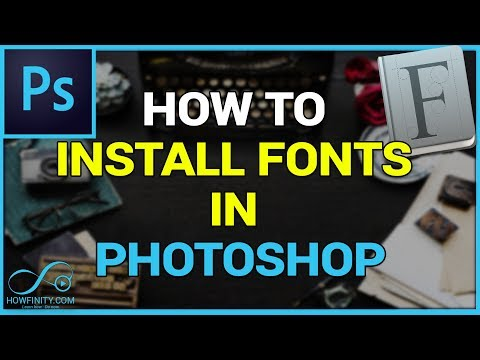 How To Download And Install FONTS In Photoshop-CS6, CC, CC2019