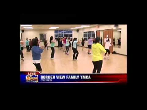 ZUMBA Class  Border View YMCA – KUSI TV 1/29/14 6:00am