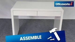 Arc 2 Drawer Desk Assembly Instructions