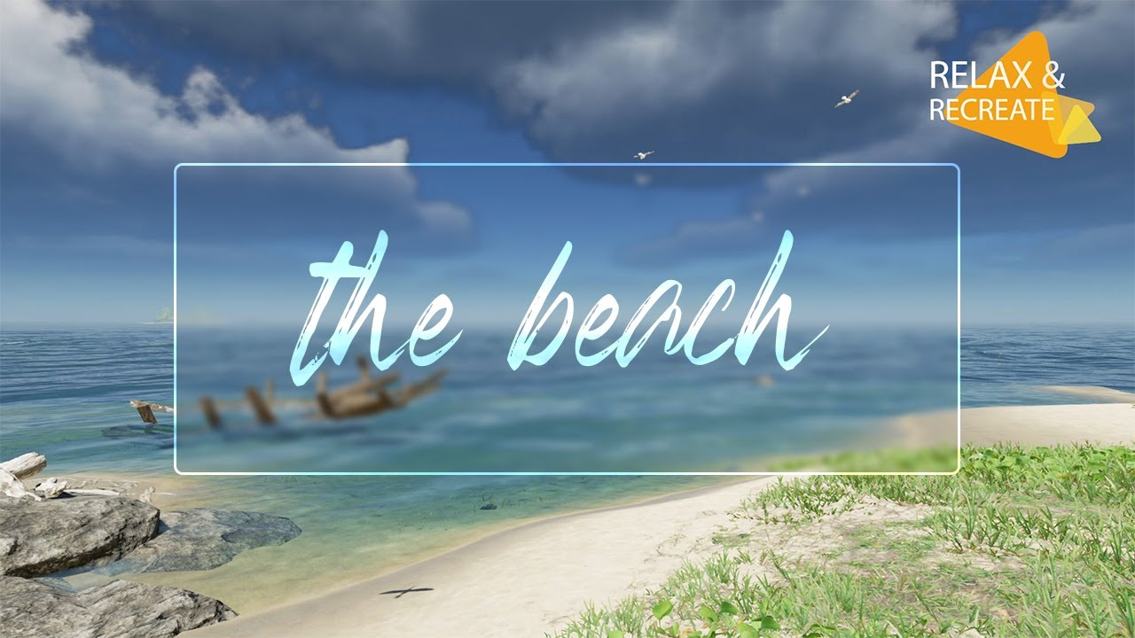 Beach with Solo Guitar - Study Music, Work Music, Focus Music - Soothing Ambience - Healing Music