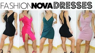 Fashion nova DRESSES | try on haul | Valerie pac