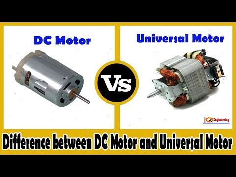 How to convert universal ac motor into dc motor youtube for Universal ac dc motor
