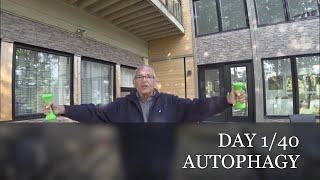 JEUNE & AUTOPHAGIE DAY 1/40  Aout 4 - 40 Jours pour tuer mon Cancer phase Terminale. Rapport 1