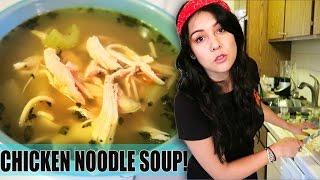 Soup-er Sick Chicken Noodle Soup! - #tastytuesday
