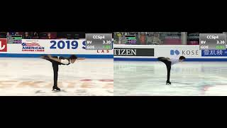 Nathan Chen SP at Grand Prix GP Final vs Skate America 2019 Нэйтен Чен КП Гран При 2019
