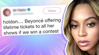 Beyonce Giving Free Concert Tickets for Life? It Could Hurt You.