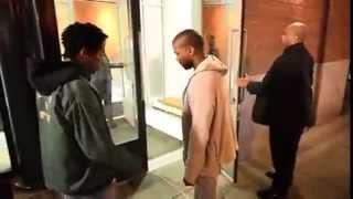 Kanye West Let An Aspiring Rapper Spit For Him In SoHo! (HD/HQ)