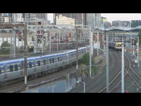 Trains in Australia ; V/line and Metro Melbourne t...