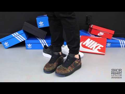 huge discount 6a011 73a5c Air Force 1 Low Flyknit Ultra Black - Multi On feet Video at Exclucity -  YouTube